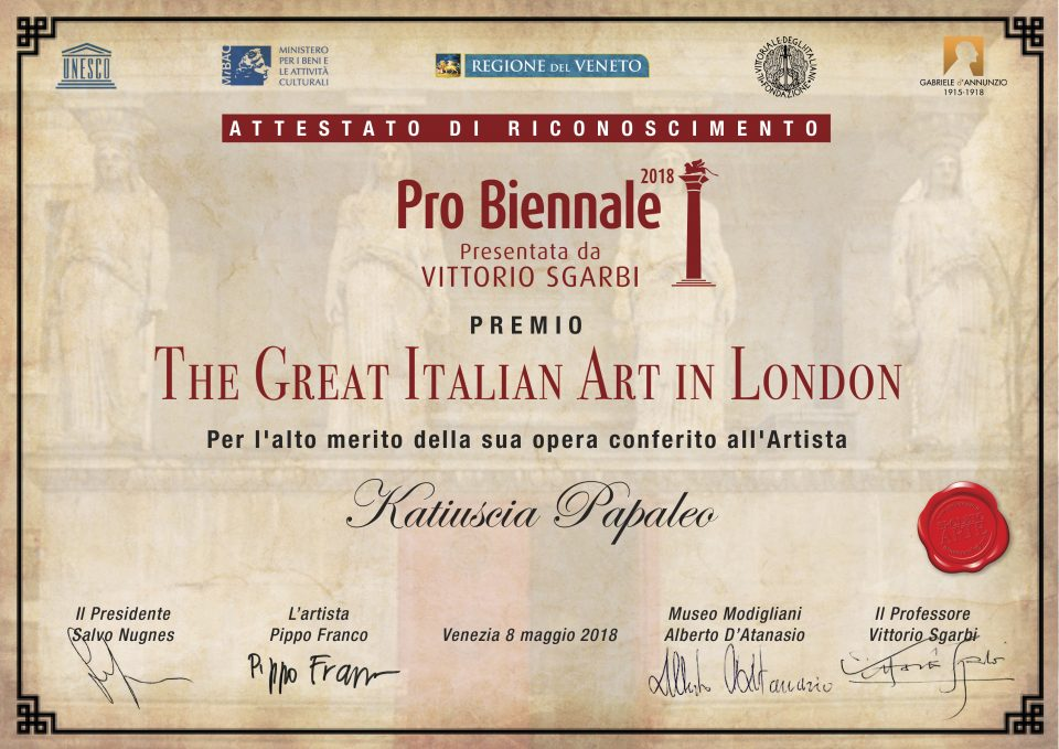 Probiennale 2018, The Great Italian Art In London - Katiuscia Papaleo