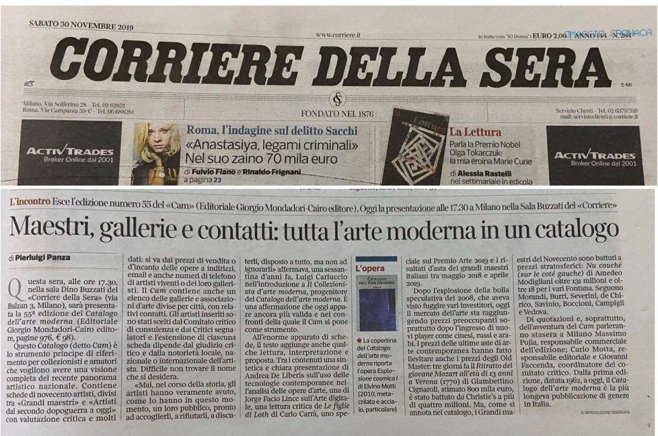 Catalogo dell'Arte Moderna 2019